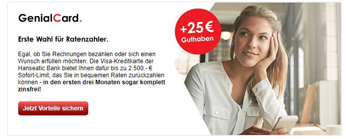 Hanseatic Bank GenialCard Erfahrungen