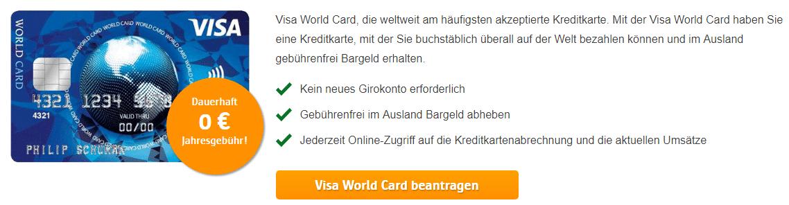 ics visa world card gebühren