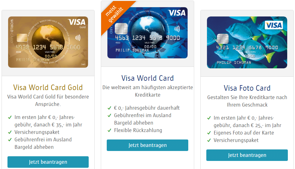visa world card kreditkarten