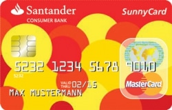 Die kostenlose Santander Sunny Mastercard