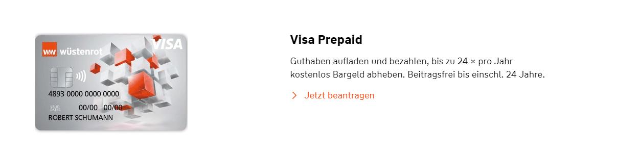 wüstenrot prepaid kreditkarte geld abheben
