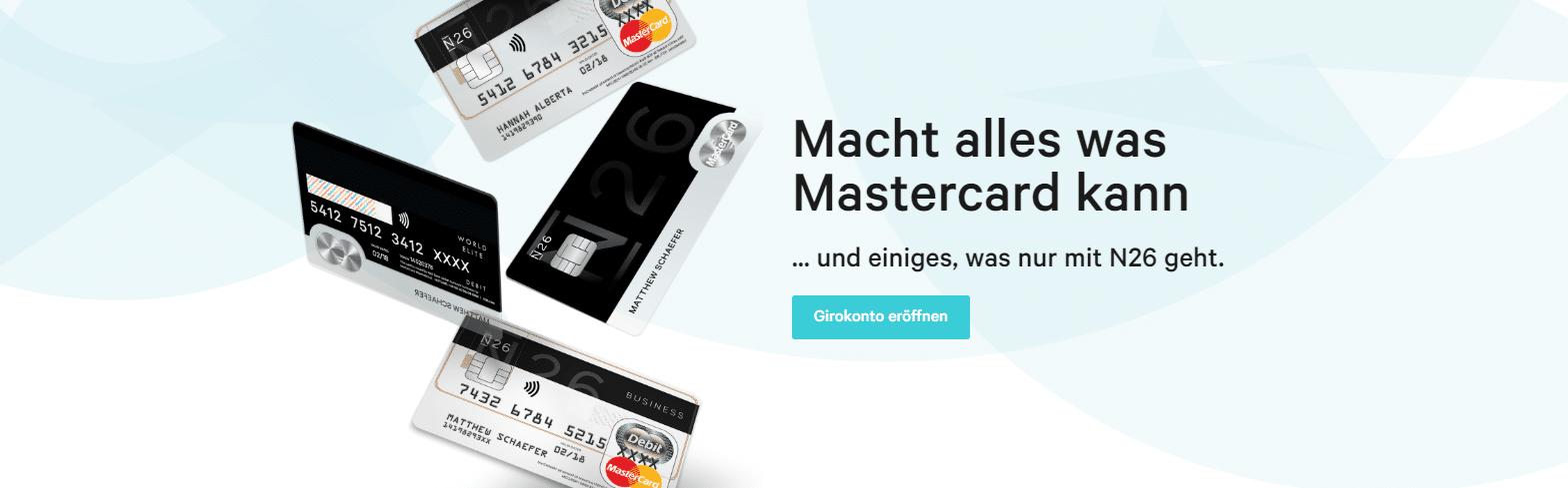 n26 prepaid kreditkarte