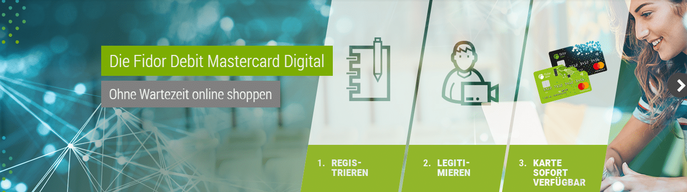 Digitale Prepaid Kreditkarte