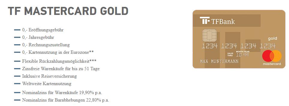 Wer die TF Mastercard Gold clever nutzt, hat viele Vorteile.